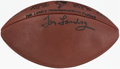 Autographs:Footballs, Tom Landry Signed Commemorative Limited Edition Football....