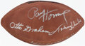 Autographs:Footballs, Hall of Famers Multi-Signed Football with Graham, Hornung,...