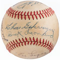 Autographs:Baseballs, Greats & Hall of Famers Multi-Signed Baseball (13 Signatures)....