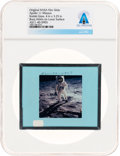 Explorers:Space Exploration, Apollo 11 Original NASA Glass Film Slide, an Image of Buzz Aldrinon Lunar Surface, Directly From The Armstrong Family Col...