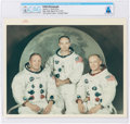 """Explorers:Space Exploration, Apollo 11: Original NASA """"Red Number"""" White Spacesuit Crew Color Photograph Directly From The Armstrong Family Collection™..."""