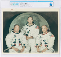 "Apollo 11: Original NASA ""Red Number"" White Spacesuit Crew Color Photograph Directly From The Armstrong Family..."