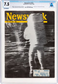 Explorers:Space Exploration, Neil Armstrong's Newsweek Magazine Dated July 28, 1969, Directly From The Armstrong Family Collection™, Sent to Hi...