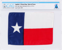 """Apollo 11 Flown """"Lone Star"""" State Flag of Texas Directly From The Armstrong Family Collection™, CAG Certified..."""