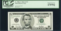 Small Size:Federal Reserve Notes, Fr. 1988-L* $5 2001 Federal Reserve Note. PCGS Superb Gem New 67PPQ.. ...