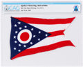 Explorers:Space Exploration, Apollo 11 Flown Flag of Ohio, Neil Armstrong's Home State, Directly From The Armstrong Family Collection™, CAG Certified. ...