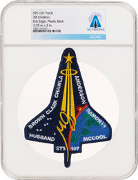 Space Shuttle Columbia (STS-107) Embroidered Mission Insignia Patch by AB Emblem Directly From The Armstrong Famil