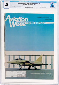 Magazines: Aviation Week & Space Technology Dated March 17, 1986, Directly From The Armstrong Family Collection™...