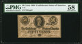 Confederate Notes:1864 Issues, T72 50 Cents 1864 PMG Choice About Uncirculated 58.. ...