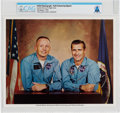 Explorers:Space Exploration, Gemini Goodwill Tour: Neil Armstrong Signed Color Photo Pictured with Richard Gordon, Directly From The Armstrong Family C...