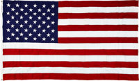 Janet Armstrong's Personal U.S. Flag Flown over the U.S. Capitol on July 20, 1969, with the Original Box and Typed Lette...