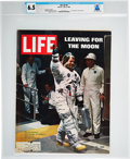 "Explorers:Space Exploration, Neil Armstrong's Personal Copy of the July 25, 1969, ""Leaving ForThe Moon"" LIFE Magazine with His Full Spacesuit ..."
