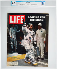 "Neil Armstrong's Personal Copy of the July 25, 1969, ""Leaving For The Moon"" LIFE Magazine wi"