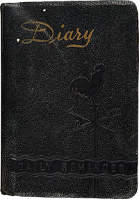 Neil Armstrong's 1944 Personal Diary Directly From The Armstrong Family Collection™, CAG Certified