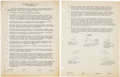 Explorers:Space Exploration, Purdue University: Neil Armstrong's Complete Class Notes for Descriptive Geometry GE 16 with Dozens of Hand-drawn Geometric Ex...