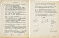 Purdue University: Neil Armstrong's Complete Class Notes for Descriptive Geometry GE 16 with Dozens of Hand-drawn Geomet...
