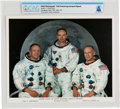 Explorers:Space Exploration, NASA: Neil Armstrong Autopen-Signed Apollo 11 White Spacesuit Crew Color Photo Directly From The Armstrong Family Collecti...