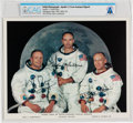 Explorers:Space Exploration, NASA: Apollo 11 Crew Autopen-Signed White Spacesuit Color Photo Directly From The Armstrong Family Collection™, CAG Certif...