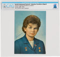Explorers:Space Exploration, Soviet 1970 Visit: Cosmonaut Valentina Tereshkova Signed Color Photo Obtained at COSPAR XIII Directly From The Armstrong Famil...