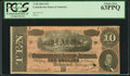 Confederate Notes:1864 Issues, T68 $10 1864 PCGS Choice New 63PPQ.. ...