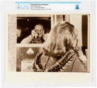 """AP Original Wirephotos: """"Buzz Puts Joan On"""" July 27, 1969, Directly From The Armstrong Family Collection™, CAG..."""