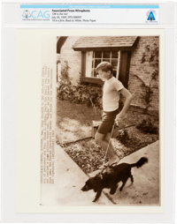"""AP Original Wirephotos: """"Off to the Vet"""" July 24, 1969, Directly From The Armstrong Family Collection™, CAG Ce..."""