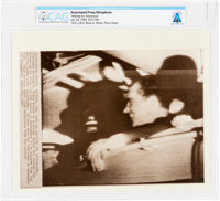 "AP Original Wirephotos: ""Waiting for Astronauts"" July 24, 1969, Directly From The Armstrong Family Collection™..."