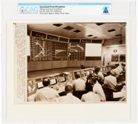 "AP ORIGINAL WIREPHOTOS: ""Mission Control at Touchdown"" July 20, 1969, Directly From The Armstrong Family Colle..."