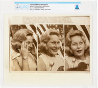 "AP Original Wirephotos: ""Reaction to Newsmen's Questioning"" July 17, 1969, Directly From The Armstrong Family..."