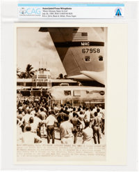 "AP Original Wirephotos: ""Moon Odyssey Nears Its End"" July 26, 1969, Directly From The Armstrong Family Collect..."
