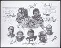 Autographs:Others, Pittsburgh Steelers Greats Multi-Signed Limited Edition Print (10 Signatures)....