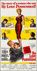 "Movie Posters:Drama, By Love Possessed (United Artists, 1961). Folded, Very Fine-. ThreeSheet (41"" X 79""). Drama.. ..."