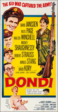 """Movie Posters:Comedy, Dondi (Allied Artists, 1961). Folded, Fine/Very Fine. Three Sheet(41"""" X 78.75""""). Comedy.. ..."""