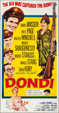 "Dondi (Allied Artists, 1961). Folded, Fine/Very Fine. Three Sheet (41"" X 78.75""). Comedy"
