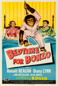 "Movie Posters:Comedy, Bedtime for Bonzo (Universal International, 1951). Fine/Very Fineon Linen. One Sheet (27.5"" X 41"").. ..."
