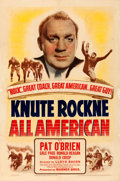 Movie Posters:Sports, Knute Rockne - All American (Warner Brothers, 1940). Very ...