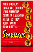"Movie Posters:Action, Spartacus (Universal International, 1960). Folded, Very Fine-. International Roadshow One Sheet (27"" X 42"") Saul Bass & Reyn..."