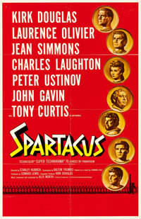 "Spartacus (Universal International, 1960). Folded, Very Fine-. International Roadshow One Sheet (27"" X 42"") Sa..."