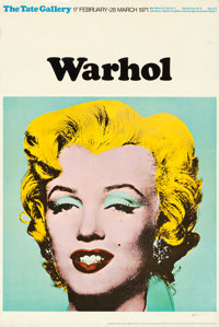 """Marilyn Monroe by Andy Warhol (Tate Gallery, 1971). Rolled, Fine/Very Fine. British Art Gallery Poster (20"""" X 30&qu..."""