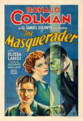 """Movie Posters:Mystery, The Masquerader (United Artists, 1933). Fine+ on Linen. One Sheet (28.25"""" X 41"""").. ..."""