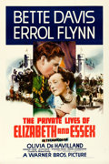"""Movie Posters:Swashbuckler, The Private Lives of Elizabeth and Essex (Warner Brothers, 1939). Very Fine on Linen. One Sheet (27"""" X 41"""").. ..."""