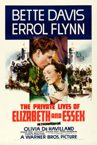 "The Private Lives of Elizabeth and Essex (Warner Brothers, 1939). Very Fine on Linen. One Sheet (27"" X 41"")..."