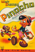 Movie Posters:Animation, Pinocchio (RKO, 1944). Fine/Very Fine on Linen. Fu...