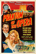 Movie Posters:Horror, Phantom of the Opera (Universal, 1945). Folded, Fine/Very ...
