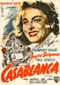 Movie Posters:Academy Award Winners, Casablanca (Warner Brothers, R-1956). Folded, Very Fine.