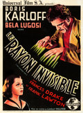 Movie Posters:Horror, The Invisible Ray (Universal, R-1946). Fine+ on Linen....