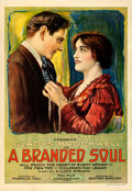 """Movie Posters:Drama, A Branded Soul (Fox, 1917). Fine/Very Fine on Linen. One Sheet (28.25"""" X 41"""").. ..."""