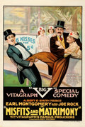 """Movie Posters:Comedy, Misfits and Matrimony (Vitagraph, 1918). Fine/Very Fine on Linen. One Sheet (28.25"""" X 42"""").. ..."""