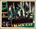 """Movie Posters:Horror, The Black Cat (Universal, 1934). Very Fine-. Lobby Card (11"""" X14"""").. ..."""