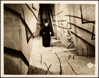 "The Cabinet of Dr. Caligari (UFA, 1919). Very Fine/Near Mint. German Lobby Card (11.75"" X 9.25"")"